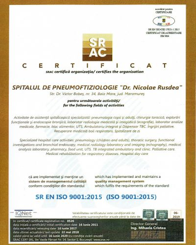 Certificare ISO 9001:2015